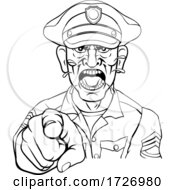 Angry Policeman Police Officer Cartoon