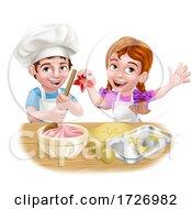 Kid Chef Cartoon Characters Baking