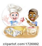 Poster, Art Print Of Cartoon Kid Chefs Cooking