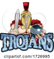 Trojan Spartan Bowling Sports Mascot
