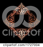 Decorative Background In Gold And Black