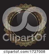 Poster, Art Print Of Elegant Background With Decorative Gold Frame