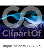 3D Abstract Background With Flowing Lines