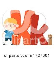 Kid Boy Kubb Sport Alphabet Illustration