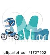 Kid Boy Motocross Sport Alphabet Illustration