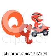 Kid Boy Quad Bike Sport Alphabet Illustration