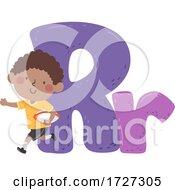 Kid Boy Rugby Sport Alphabet Illustration