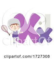 Poster, Art Print Of Kid Boy Xare Sport Alphabet Illustration