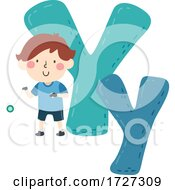 Poster, Art Print Of Kid Boy Yoyo Sport Alphabet Illustration