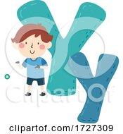 Kid Boy Yoyo Sport Alphabet Illustration
