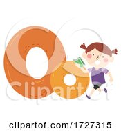 Kid Girl Orienteering Sport Alphabet Illustration