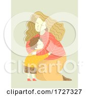Mother Hug Child Illustration