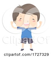 Kid Boy Adjective Able Strong Happy Illustration