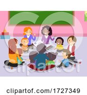 Stickman Family Play Group Indoor Illustration