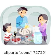 Stickman Family Emergency Kit Illustration