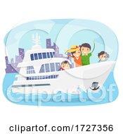 Stickman Family Yacht Tour Illustration