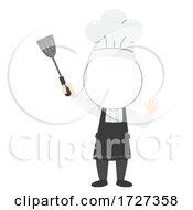 Kid Chef Head Blank Template Illustration