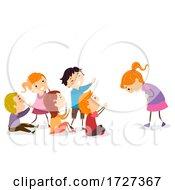 Stickman Kids Social Skills Praising Others