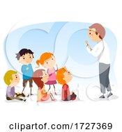 Stickman Kids Social Skills Listening Actively