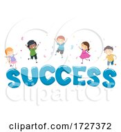 Stickman Kids Social Skills Celebrating Success
