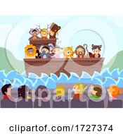 Stickman Kids School Play Bible Story Noahs Ark