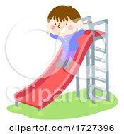 Kid Girl Childhood Memories Slide Illustration
