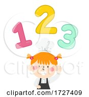 Kid Girl Chef Apron Point 123 Illustration