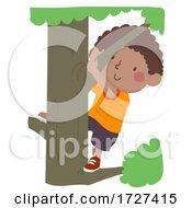 Kid Boy Childhood Memories Climb Tree Illustration