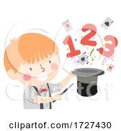 Kid Boy Magic Hat 123 Illustration