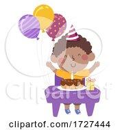 Kid Boy Black Class Birthday Illustration