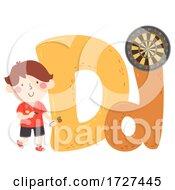 Kid Boy Dart Sport Alphabet Illustration