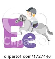 Kid Boy Equestrian Sport Alphabet Illustration