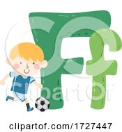 Poster, Art Print Of Kid Boy Football Sport Alphabet Illustration
