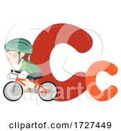 Kid Boy Cycling Sport Alphabet Illustration