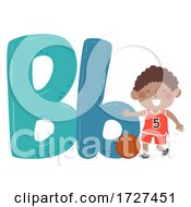 Kid Boy Basketball Sport Alphabet Illustration