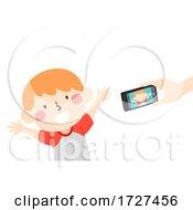 Kid Boy Make Video Mobile Illustration