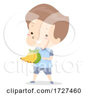 Kid Boy Adjective Different Banana Illustration