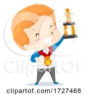Kid Boy Adjective Best Trophy Illustration