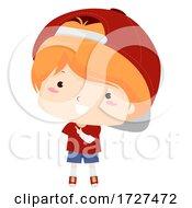 Kid Boy Adjective Handsome Pose Illustration