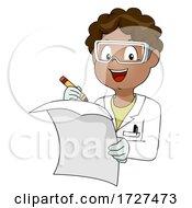 Kid Boy African Lab Coat Paper Illustration