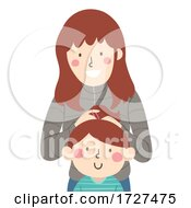 Sister Kid Girl Fix Hair Illustration