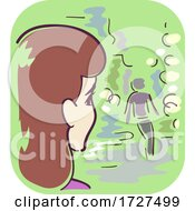 Girl Symptom Cloudy Vision Illustration