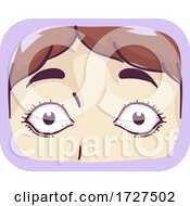 Girl Symptom Bulging Eyes Illustration