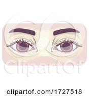 Symptom Dilated Pupils Illustration