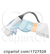 Hand Ultrasound Illustration