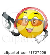 Mascot Target Shooting Illustration