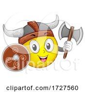 Mascot Viking Warrior Illustration