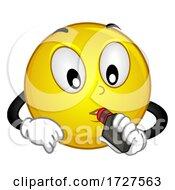 Smiley Mascot Smoking Vape Illustration