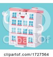 Mascot Dorm Building Illustration