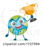 Mascot Earth World Champion Illustration